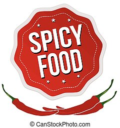 Spicy food label or sticker