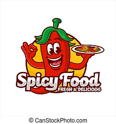 Spicy Food Logo Vector Design illustration