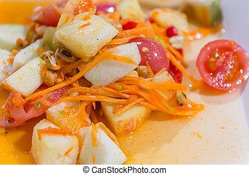 spicy fruit salad Thai food