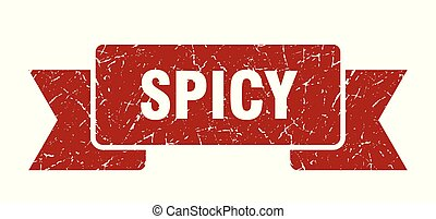 spicy grunge ribbon. spicy sign. spicy banner