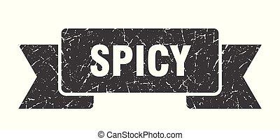 spicy grunge ribbon. spicy sign. spicy banner