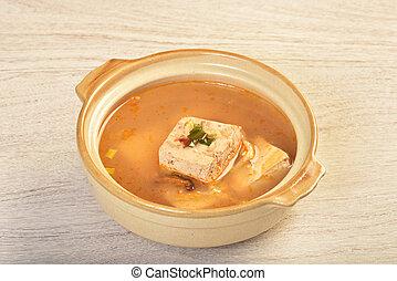 Spicy hot bean curd
