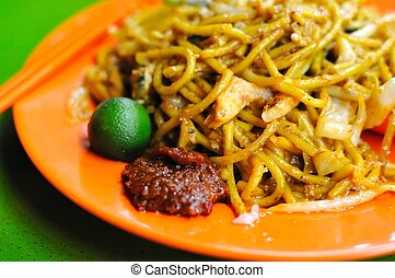 Malay style fried noodles - Spicy Malay style fried noodles...