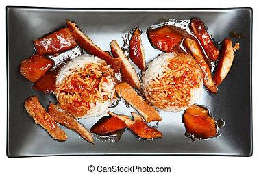 Spicy Mango Pork with Jasmine Rice