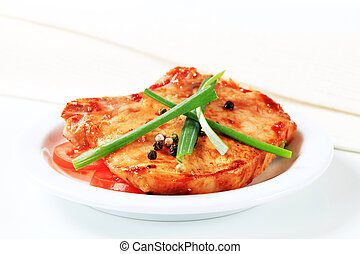 Spicy pork cutlet