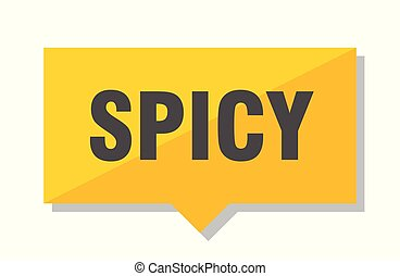 spicy price tag - spicy yellow square price tag