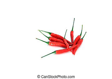 Spicy red hot pepper.