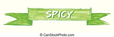 spicy ribbon - spicy hand painted ribbon sign