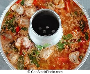 spicy seafood soup with chili pase