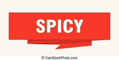 spicy sign. spicy paper origami speech bubble. spicy tag....