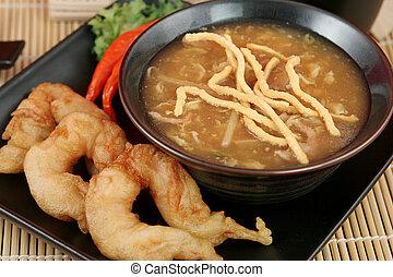 Spicy Soup & Shrimp