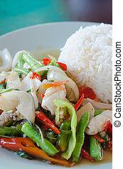 spicy squid