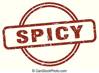 spicy stamp isolated on white