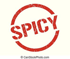 spicy stamp - spicy red round stamp