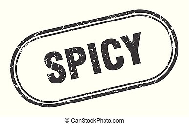 spicy stamp. spicy square grunge sign. spicy