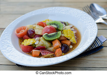 Spicy Thai Mixed Fruit Salad