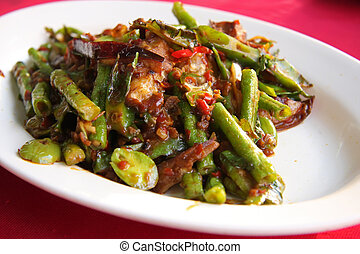 Spicy vegetables - Assorted stirfried vegetables in spicy...