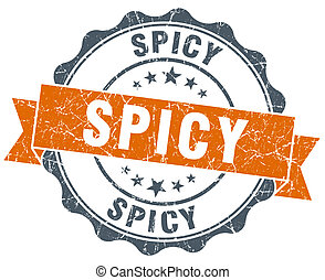 spicy vintage orange seal isolated on white