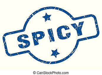 spicy vintage stamp. spicy sign
