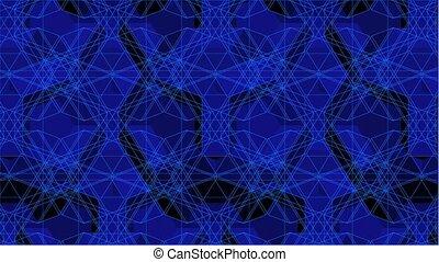 Spider Blue Net Line Kaleidoscope - Spider Blue Net Line...