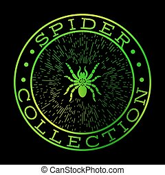 Spider collection green label design