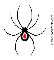Spider design - Design of black spider illustration