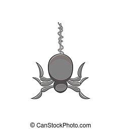 Spider icon, black monochrome style