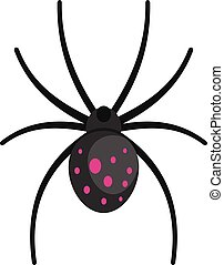 Spider icon, cartoon style