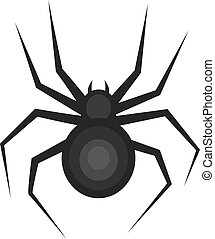 Spider icon is a flat style. Isolated on white background. Vector illustration.