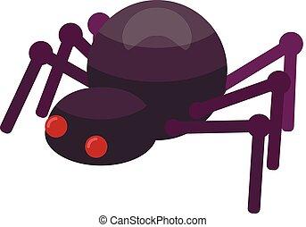 Spider icon, isometric style