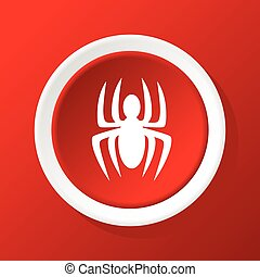 Spider icon on red