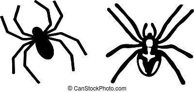 spider icon on white background