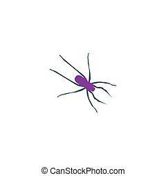 Spider Icon Vector. Flat simple color pictogram