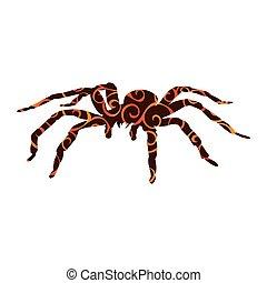 Spider monster pattern silhouette ancient mythology fantasy....