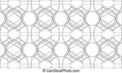 Spider Net Dancing Lines Kaleidoscope Animation