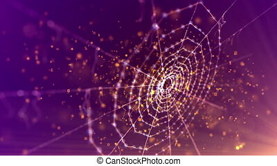 """""""Spider Net in the Violet Background"""" - """"A mysterious 3d..."""