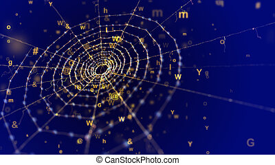 Spider Network in the Blue Cyberspace