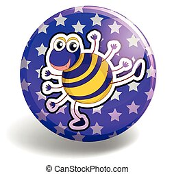 Spider on round badge