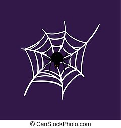 Spider over a spiderweb