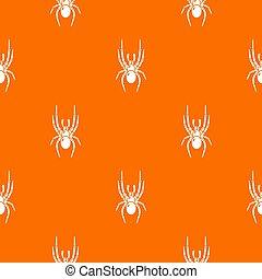 Spider pattern orange