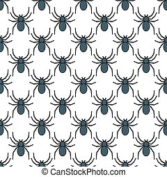 Spider pattern - Seamless pattern of the spider icons