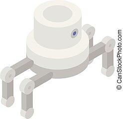Spider robot icon, isometric style