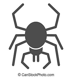 Spider solid icon. Scary arachnid insect. Halloween party vector design concept, glyph style pictogram on white background.