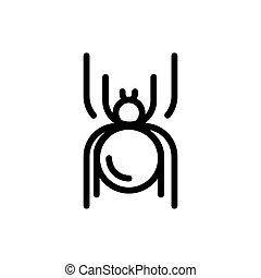 Spider Vector Halloween icon