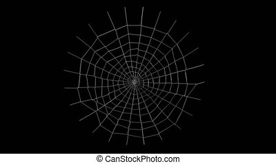 spider web animation with alpha channel in 4k