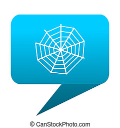 spider web blue bubble icon