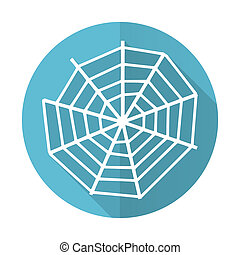 spider web blue flat icon