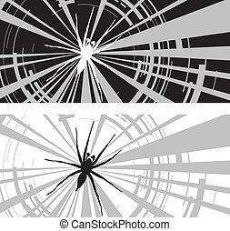 spider web - two spider webs