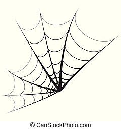 Spider Web Element - An isolated spider web shaped element...