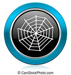 spider web glossy icon
